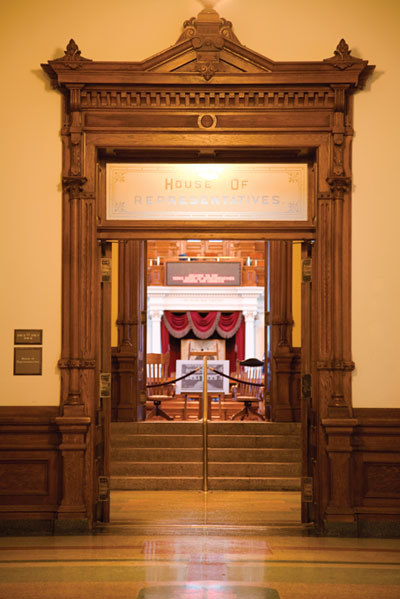 Texas Capital House of Reps. doorway